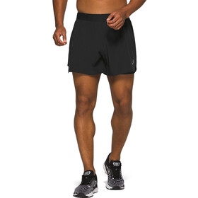 "asics Road Short 2-N-1 5"" Homme, performance black"